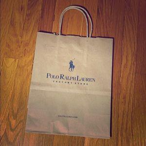 ✅ POLO RALPH LAUREN Factory Store Paper Bag Tote